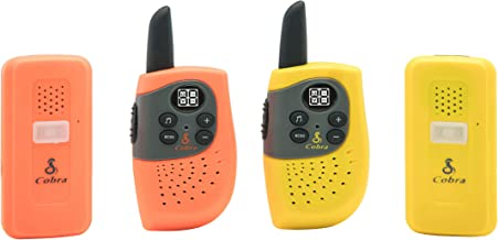 Cobra FS300-2 Family Safety Walkie Talkies Two-Way Radios (Two Pre-Paired Sets)
