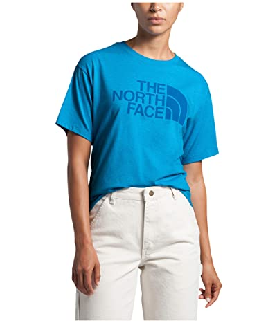 The North Face Half Dome Short Sleeve Tri-Blend Tee (Clear Lake Blue Heather) Women