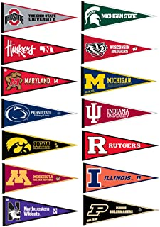 Big Ten Conference College Pennant Set
