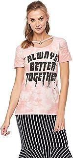 Lee Cooper Boyfriend T-Shirt with Choker for Women