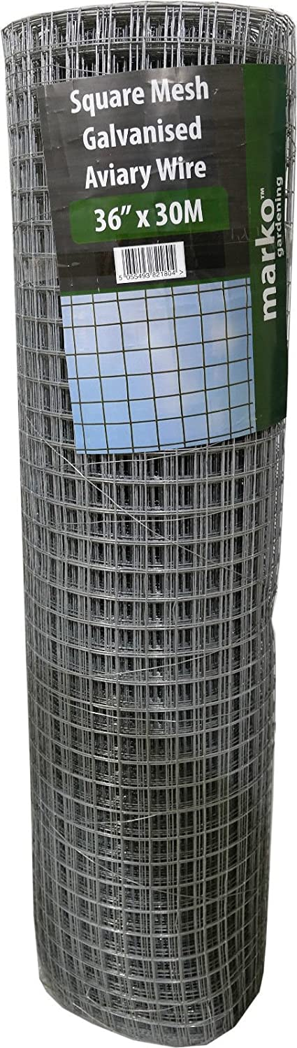 36  x 30M Welded Wire Mesh 1  x 1  Galavised Fence Aviary Hutches Run Pet Coop