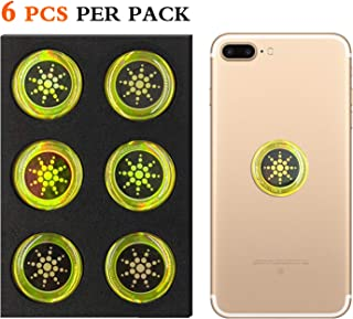 EMF Radiation Shield EMF Neutralizer Sticker For Mobile Phones,Phone, iPad and Laptop - EMR Protection Blocker(Gold 6pcs)