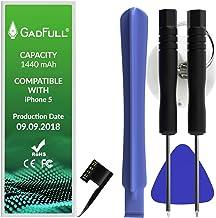 GadFull Batteria compatibile con iPhone 5 | 2018 Data di produzione | Manuale Profi Kit Set di Attrezzi | Batteria di ricambio senza cicli di ricarica | Con tutti gli APN originali