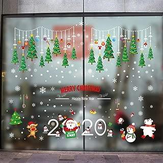 ufengke Pegatina de Navidad Año Nuevo Vinilos Calcomanías de Ventana Árbol de Navidad Copos de Nieve para Tienda Hogar Vidrios Navidad Decoración