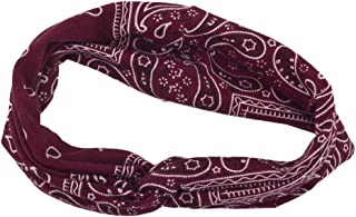 Lux Accessories Soft Bandana Print Knot Front Headband