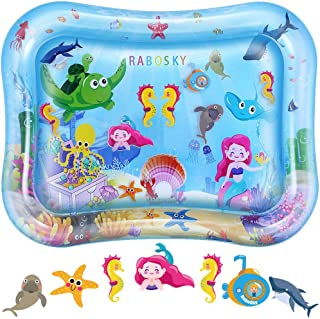 RaboSky Tummy Time Water Play Mat, Babys First Christmas Gifts, Inflatable Infant Toy for 3 6 9 to 12 Months Baby Boy or G...