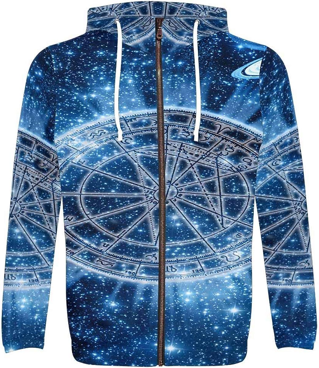 InterestPrint Men's All 2021 new Over Print Hoodie Sweatshirt Phoenix Mall Zip Full Sk