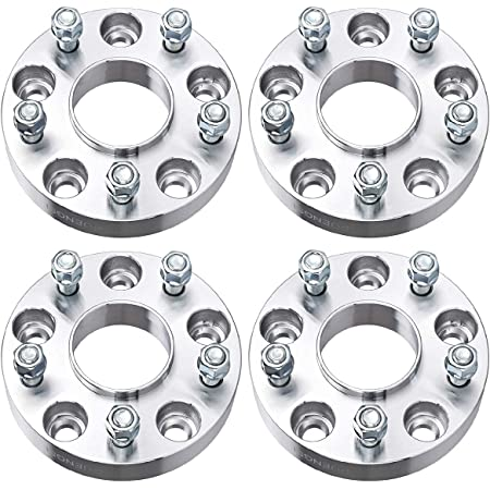 """PUENGSI Wheel Spacer 1.25 inch 5x5 to 5x5/5x127mm to 5x127mm 4PCS Thread Pitch 1/2"""" Hubcentric Wheel Spacers fits for Jeep Wrangler Rubicon Sport Jeep Cherokee XK JK WK"""