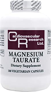 Magnesium Taurate 125mg 180 Capsules - 2 Pack - Ecological Formulas/Cardiovascular Research
