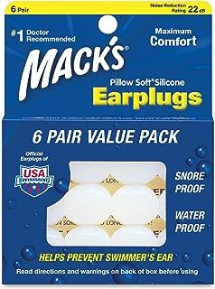 Mack della fascia Aqua Blocco Morbido Silicone per Sport Acquatici/ /Macks nuoto tappi