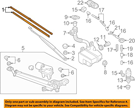 2014-2015 VW Volkswagen Golf GTI ORIGINAL FRONT Wiper Blade Set GENUINE OEM BRAND NEW