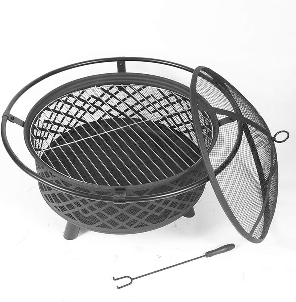 BRREB Brasier pour Le Chauffage Extérieur, Four Extérieur en Acier Inoxydable Barbecue Barbecue Jardin Brasero pour Le Chauffage Au Charbon De Bois Grand avec Foyer Barbecue A A