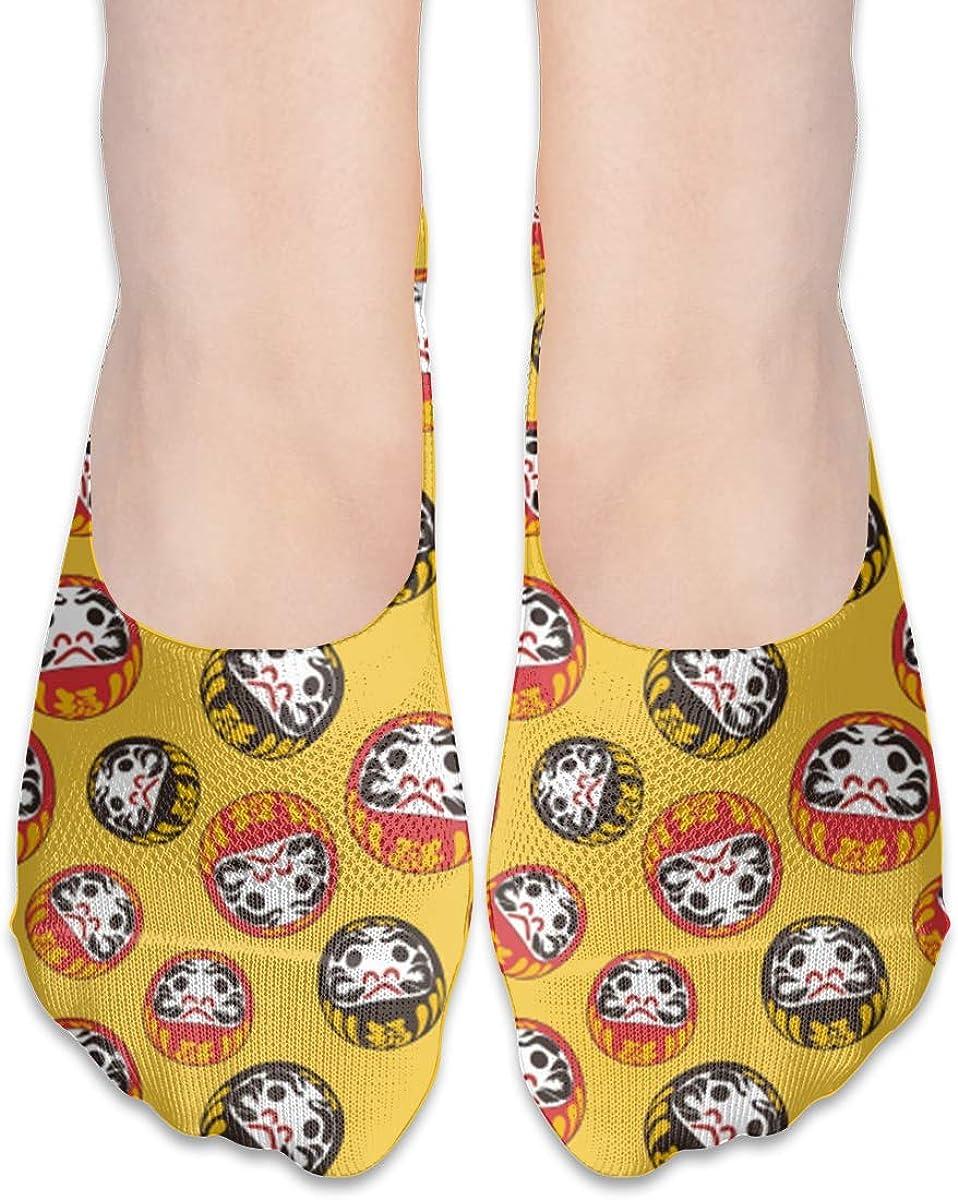 No Show Socks Women Men For Fuku Luck Goods Flats Cotton Ultra Low Cut Liner Socks Non Slip