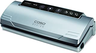 Caso Design VC.10 Vacuum Sealer with Food Management App, Starter bags included, Stainless Steel