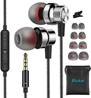 comprar comparacion Blukar Auriculares In Ear, Auriculares con Micrófono y Cable Cómodo Reducción Ruido Sonido Estéreo Control de Volumen para...