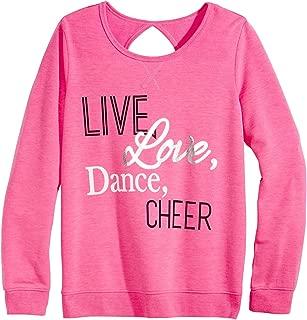 Live, Love, Dance, Cheer Graphic-Print Sweatshirt, Big Girls, Gymnast Pink Size M 10/12