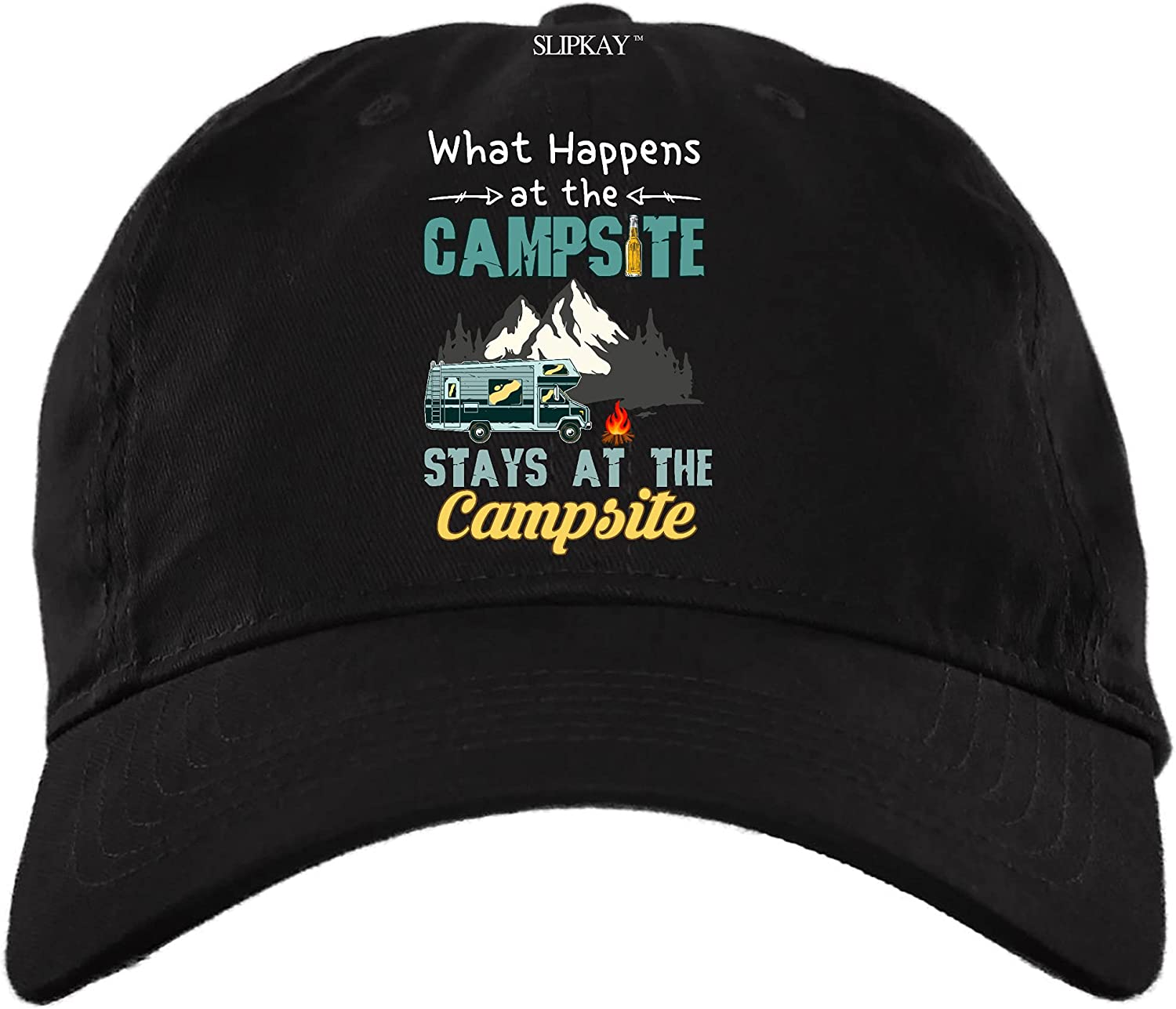 What Happens at The Campsite Stays at The Campsite Hat,Dad Cap