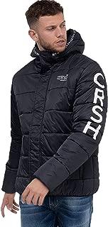 Veste Homme Crosshatch Noir Rembourré Gilet Veste à capuche