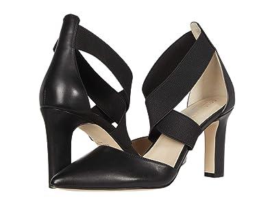 Cole Haan Maikki Elastic Pump 75 mm (Black Leather/Gore) Women