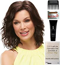 Bundle - 5 items: Scarlett Wig by Jon Renau, Christy's Wigs Q & A Booklet, 2oz Travel Size Wig Shampoo, Wig Cap & Wide Tooth Comb - Color: 24BT18