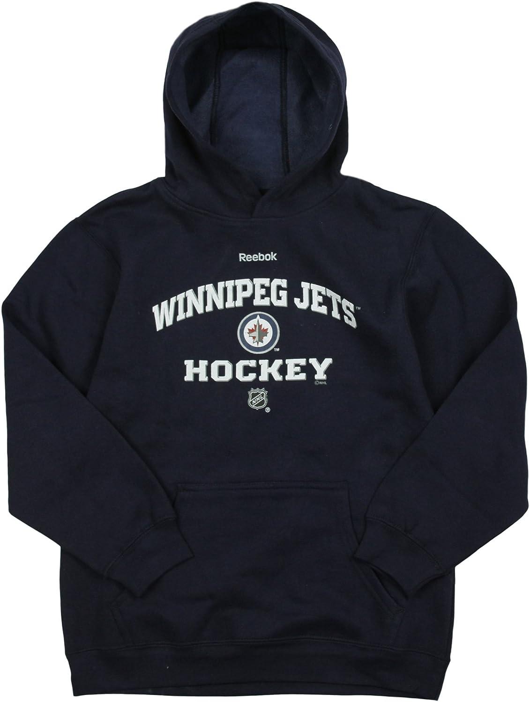 Reebok Winnipeg Jets NHL Youth discount 8-20 Boys Fleece Navy Big Fort Worth Mall Pullove