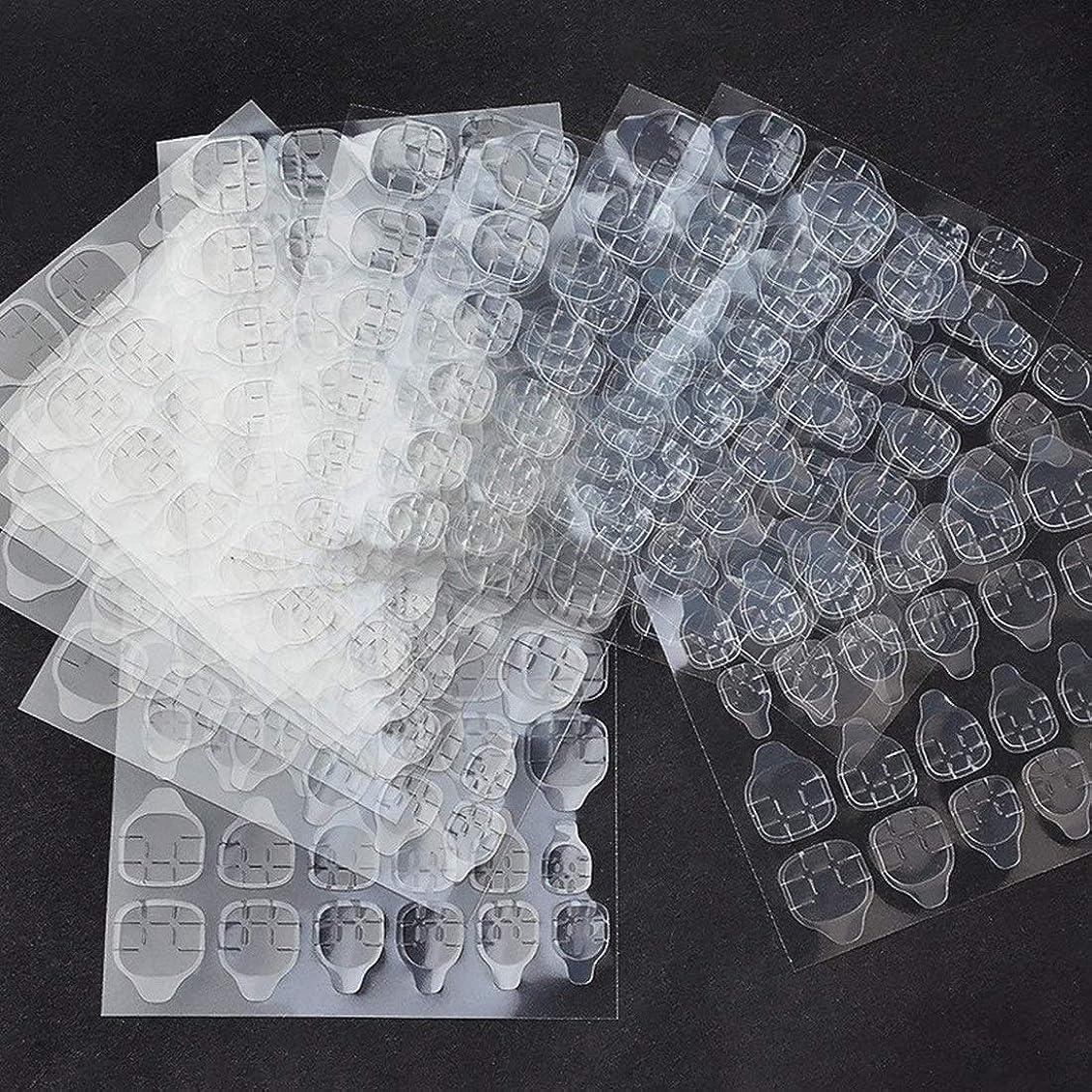 エキス精神医学整理するKerwinner 10枚防水通気性透明超薄型両面接着タブネイルグルーステッカー偽ネイルのヒント