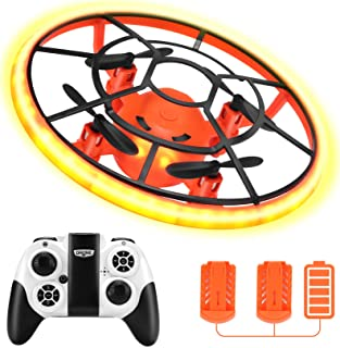 HR Mini Drones For Kids,RC Drone For Beginners With Neno Light,RC Helicopter Quadcopter With Altitude Hold,360° Rotating,S...