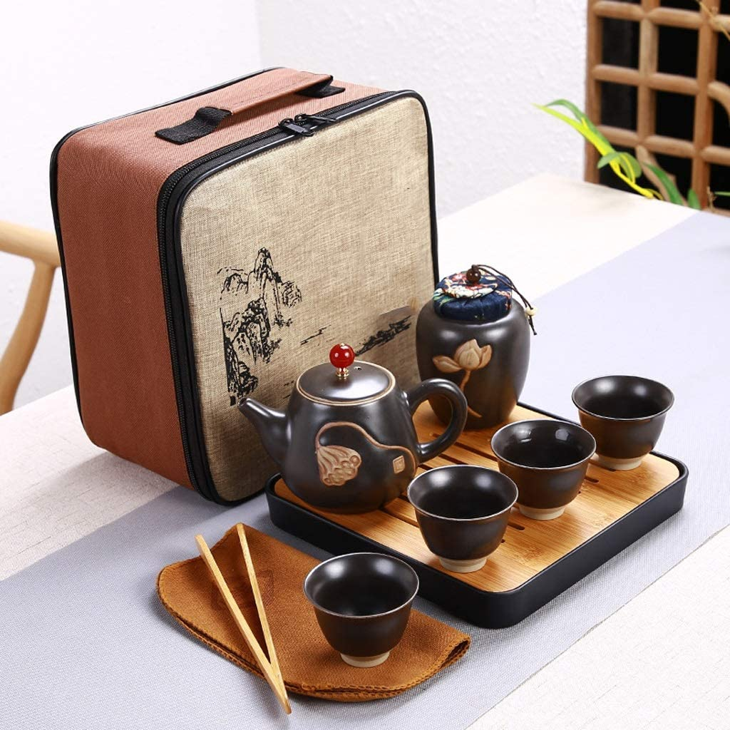 DIAOD Limited price Ceramic Teapot One Pot Four Tea Outdoor Fu Travel Cup Kung Ranking TOP5