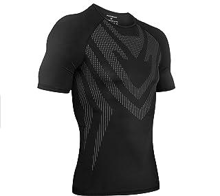 AMZSPORT Camisa de Compresión Deportiva para Hombre