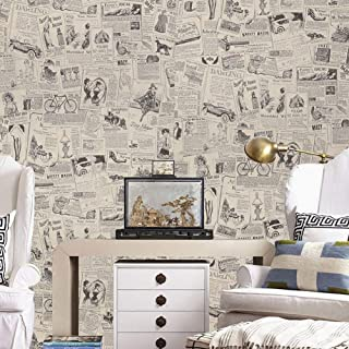 Blooming Wall Peel/&Stick Prepasted Contact Wallpaper Wallcoverings for Wall,23.6in x 19.7ft,Silver Gray Differme Company Limited
