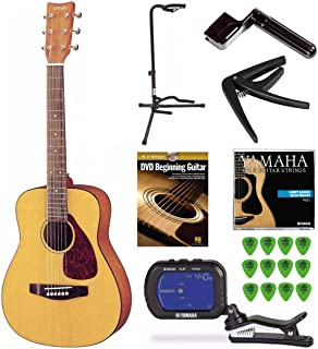 Yamaha JR1 3/4 Scale Guitar with Stand, Tuner, Picks and Beginning Guitar DVD