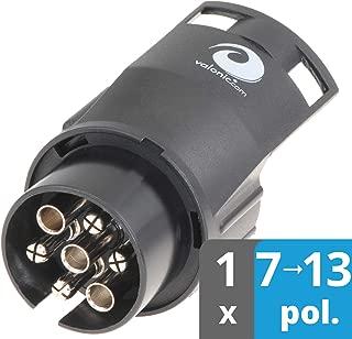 Qii lu 24 V 7 Pin Die Cast Schwere Anh/änger Buchse Stecker Adapter Runde Buchse Adapter Stecker f/ür Auto Semi Trailer Lkw Schwarz Steckdosenadapter