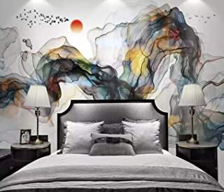 Murwall Abstract Wallpaper Colorful Smoke Wall Mural Watercolor Art Wall Decor Abstract Home Decor Living Room Bedroom Cafe Design