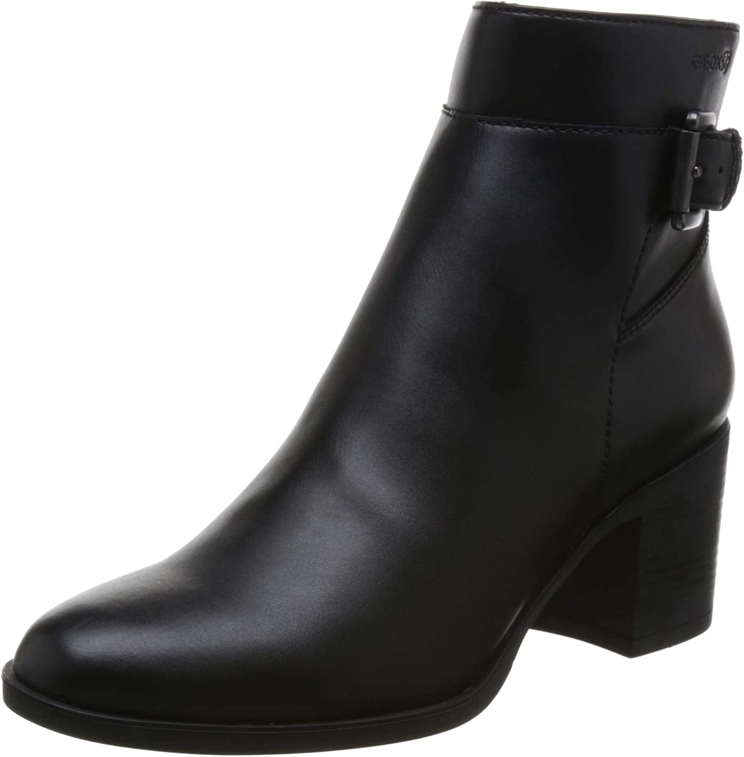 Geox Womens Asheel 1 Zip Ankle Boot, 2.5  Heel Ankle Boot