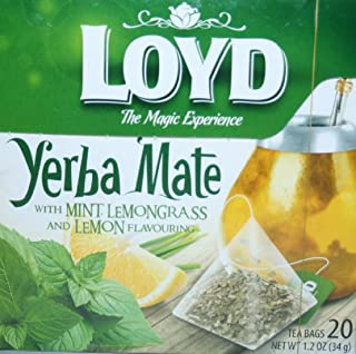 Loyd the Magic Experience Yerba Mate with Mint, Lemongrass and Lemon Flavouring 20 teabags