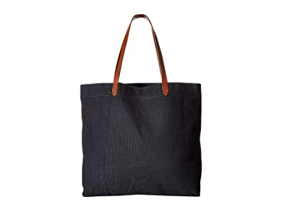 Madewell The Canvas Transport Tote (Black Sea) Handbags