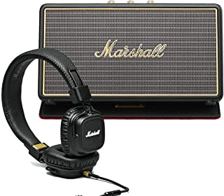 Marshall 马歇尔 优惠套装 - Stockwell便携式蓝牙音箱 + Major II 黑色头戴线控有线耳机黑色 - MHP-92019-BB 可开专票