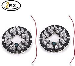 24 LED 850nm IR Infrared Illuminator Board 90 Degree Round Plate IR Illuminator Board Bulb for CCTV Security Camera(2Packs)