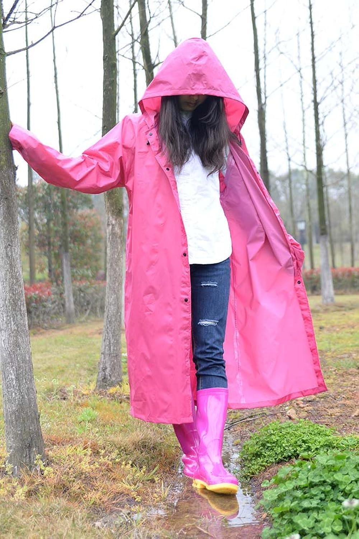 Adult Polyester Fiber Raincoat Fashion Full Body Poncho