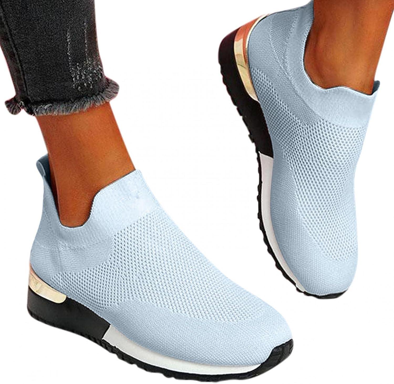Zieglen Sneakers for Women, Women's Lightweight Flying Mesh Shoes Casual Tennis Walking Running Shoes Fashion Sneakers