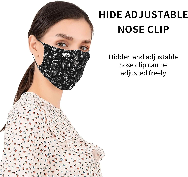 4pcs Skull Face Mask,Halloween Skeleton Scary Mask Unisex Balaclava Fashion Washable Reusable Scarves