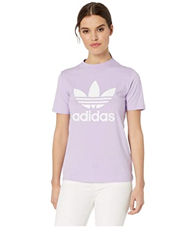 adidas Originals Trefoil Tee (Purple Glow) Women