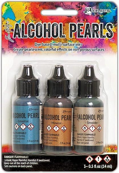 Ranger Kit de perlas de tinta de alcohol, B Verde/Turquesa/Fucsia, Medium