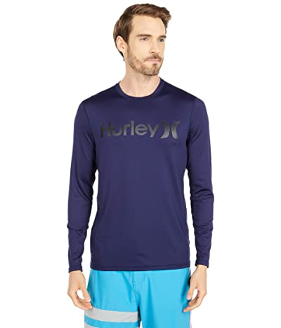 Hurley One Only Long Sleeve Surf Shirt (Obsidian) Men