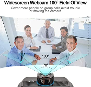 Hd Webcam 1080p with Microphone, USB Webcam for Desktop, Computer, PC,Mac, Laptop Video Conferencing, Recording, and ...