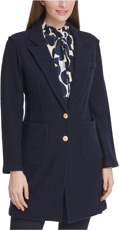 DKNY Womens Wool Blend Work Wear Topper Jacket