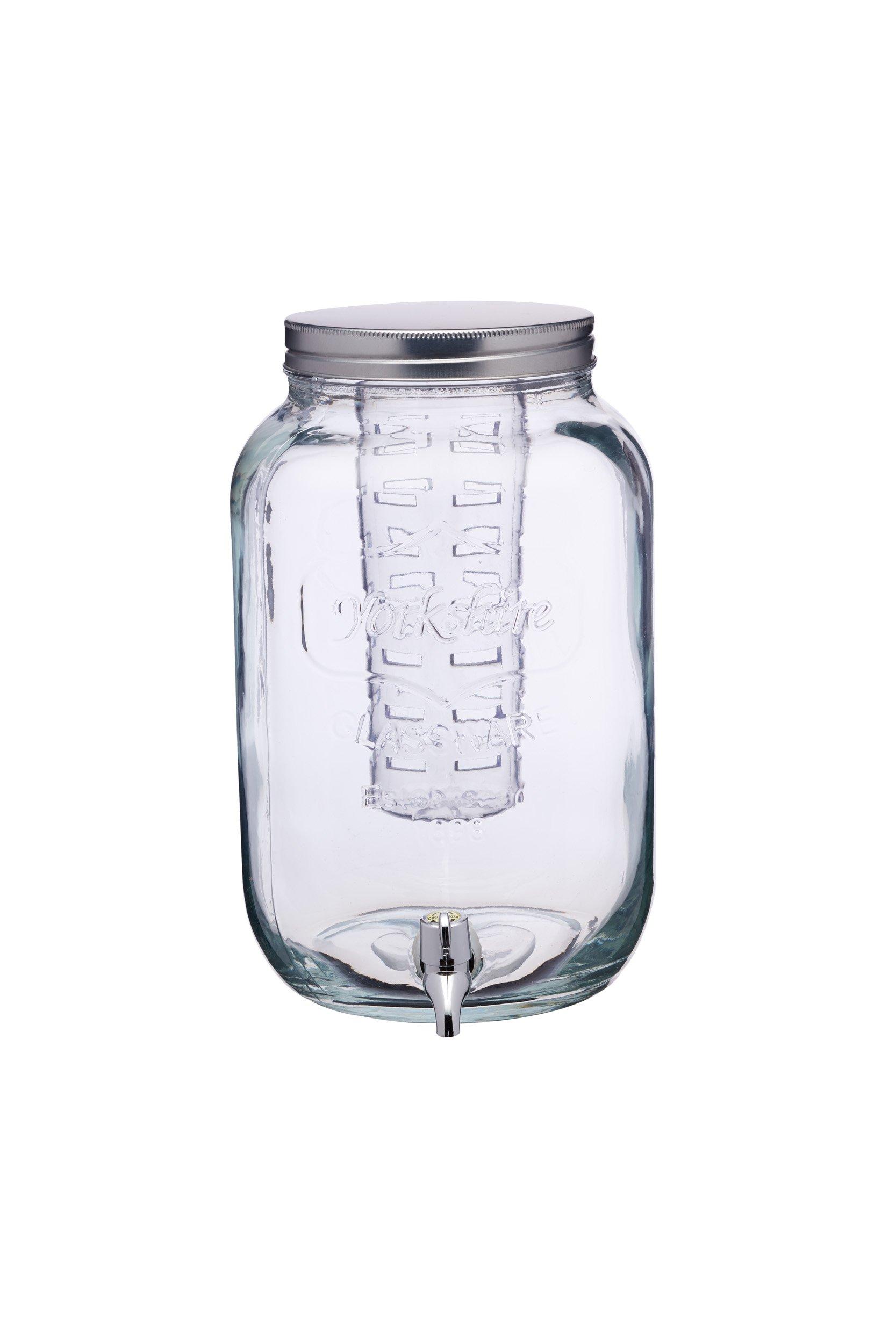 Kitchen Craft Home Made – Tarro de Cristal dispensador de Bebidas con infusor de Agua, 7,5 litros, Transparente: Amazon.es: Hogar