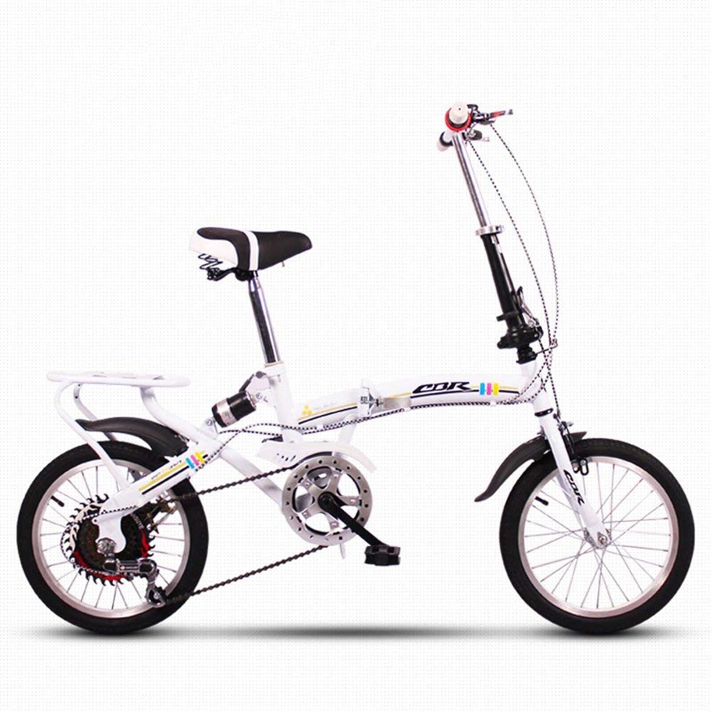 DBSCD Biciclette Pieghevoli per Bambini, Biciclette Pieghevoli per Studenti Mini Piccole Bici Portatili e Femminili a 6 velocità variabili assorbenti Gli Urti Portatili