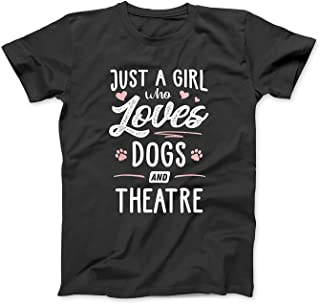 Mint Mama Just A Girl Who Loves Dogs and Theatre Gift Dog Lover T-Shirt