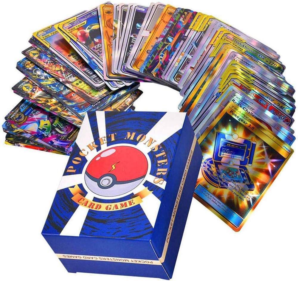 Emeili Set de 120 Cartas Compatible con Pokemon, Juego de Cartas, Cartas Coleccionables GX 30+50+20+20